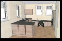 Zeichnung der künftigen Küche
